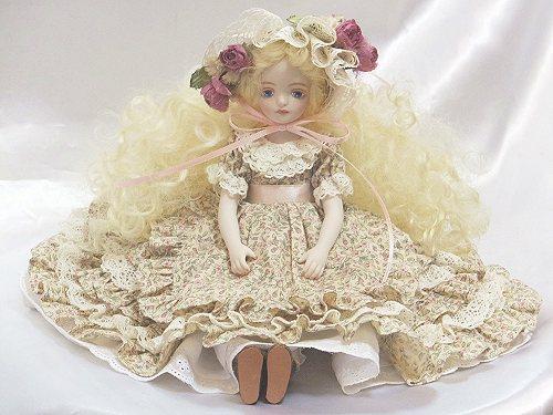 【送料無料】若月まり子 ビスクドール♪ララベル(アイボリー)【楽ギフ_メッセ入力】ビスクドール 妖精 フラワーフェアリー 陶器 お人形 ポーセリン【楽ギフ_のし】