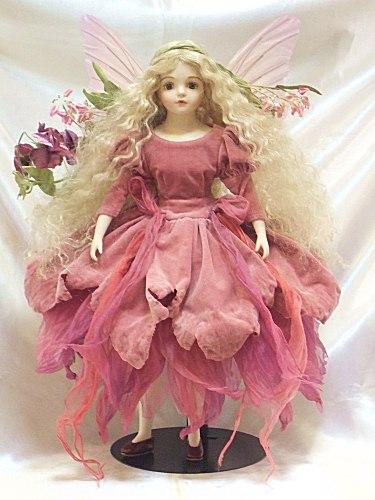 【送料無料】若月まり子 ビスクドール「ルナ:ピンク」【特別バージョン】【楽ギフ_のし】ビスクドール 御祝 贈答 創作人形 ギフト 結婚祝 出産祝 記念品