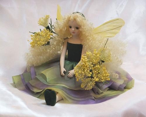 【送料無料】若月まり子 お花の妖精人形♪エルフィンフローリー:ディル【楽ギフ_のし】ビスクドール 御祝 贈答 創作人形 ギフト 結婚祝 出産祝 記念品