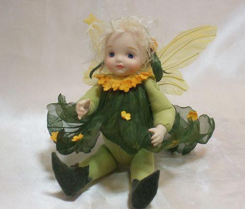 【送料無料】若月まり子 お花の妖精人形♪リトルエルフィン:きんもくせい【楽ギフ_のし】ビスクドール 御祝 贈答 創作人形 ギフト 結婚祝 出産祝 記念品