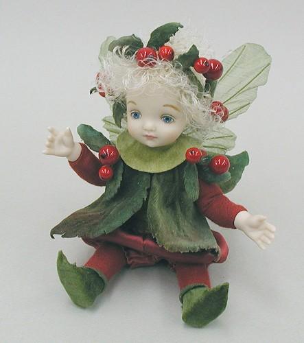 【送料無料】若月まり子 お花の妖精人形♪リトルエルフィン:クランベリー【楽ギフ_のし】ビスクドール 御祝 贈答 創作人形 ギフト 結婚祝 出産祝 記念品