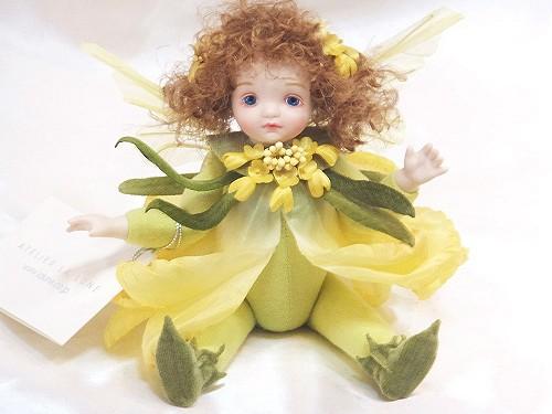 【送料無料】若月まり子 お花の妖精人形♪リトルエルフィン:キャンディタフト(イエロー)【楽ギフ_のし】ビスクドール 御祝 贈答 創作人形 ギフト 結婚祝 出産祝 記念品