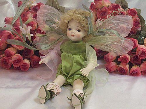 【送料無料】若月まり子 ビスクドール「ベビーフェアリー:A」【楽ギフ_のし】ビスクドール 御祝 贈答 創作人形 ギフト 結婚祝 出産祝 記念品