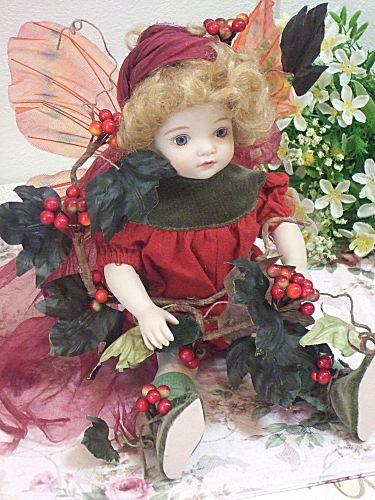 【送料無料】若月まり子 ビスクドール「ベビーフェアリー:C」【楽ギフ_のし】ビスクドール 御祝 贈答 創作人形 ギフト 結婚祝 出産祝 記念品
