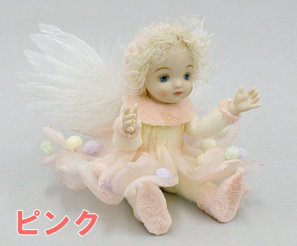 【送料無料】若月まり子 天使人形♪リトルエルフィン:マシュマロの天使【楽ギフ_のし】ビスクドール 御祝 贈答 創作人形 ギフト 結婚祝 出産祝 記念品