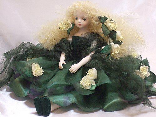【送料無料】若月まり子 お花の妖精人形♪エルフィンフローリー:ミルト【楽ギフ_のし】ビスクドール 御祝 贈答 創作人形 ギフト 結婚祝 出産祝 記念品