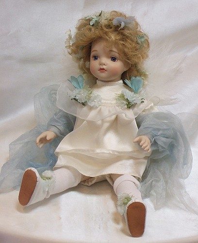 【送料無料】若月まり子 ビスクドール「ベビーエンジェル」【楽ギフ_のし】ビスクドール 御祝 贈答 創作人形 ギフト 結婚祝 出産祝 記念品