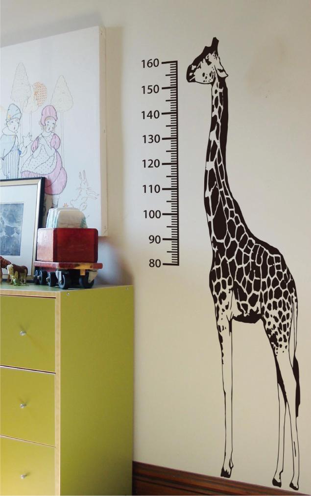 限定タイムセール キリンのようにスクスク育つ セール 身長計 200cm キリン ウォールステッカー インテリア 動物 測定 店 子ども 評判 きりん 部屋