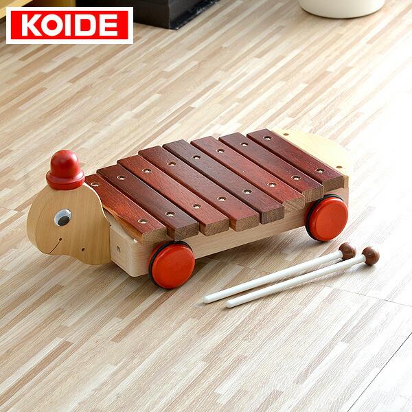 1年保証 コイデ KOIDE 日本製 おもちゃ 玩具 カメさんシロホン M02 木琴 8音 楽器 知育 室内 1歳 2歳 男の子 女の子 子供 幼児 ベビー 知育玩具 出産祝い 誕生日 ウッド 天然木 国産 ●[送料無料]