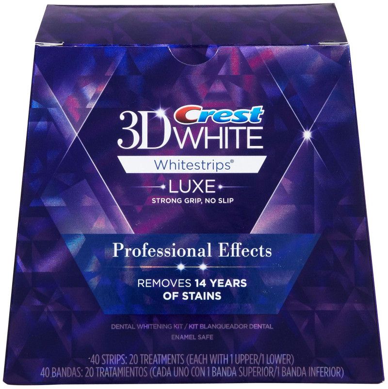 LUXE CREST 3D Whitestrips professional effects