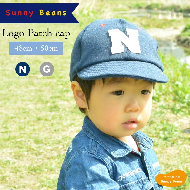db0a4ac7cb33a  ネコポス対応 ロゴワッペンキャップキッズロゴキャップ男の子子供48~50cm帽子