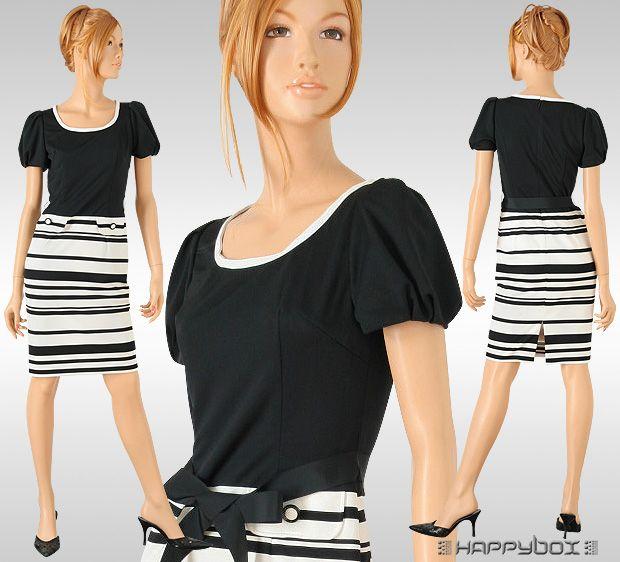 Happybox1: White Horizontal Stripe Classic Dress 9-11