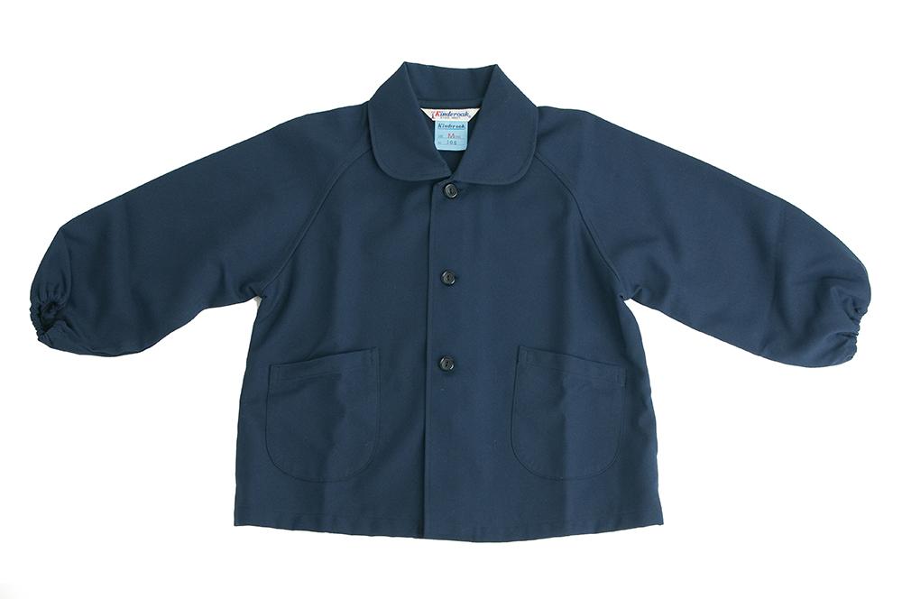 安心の日本製 しっかり素材 襟付き紺色無地スモック 100~140cm【あす楽】
