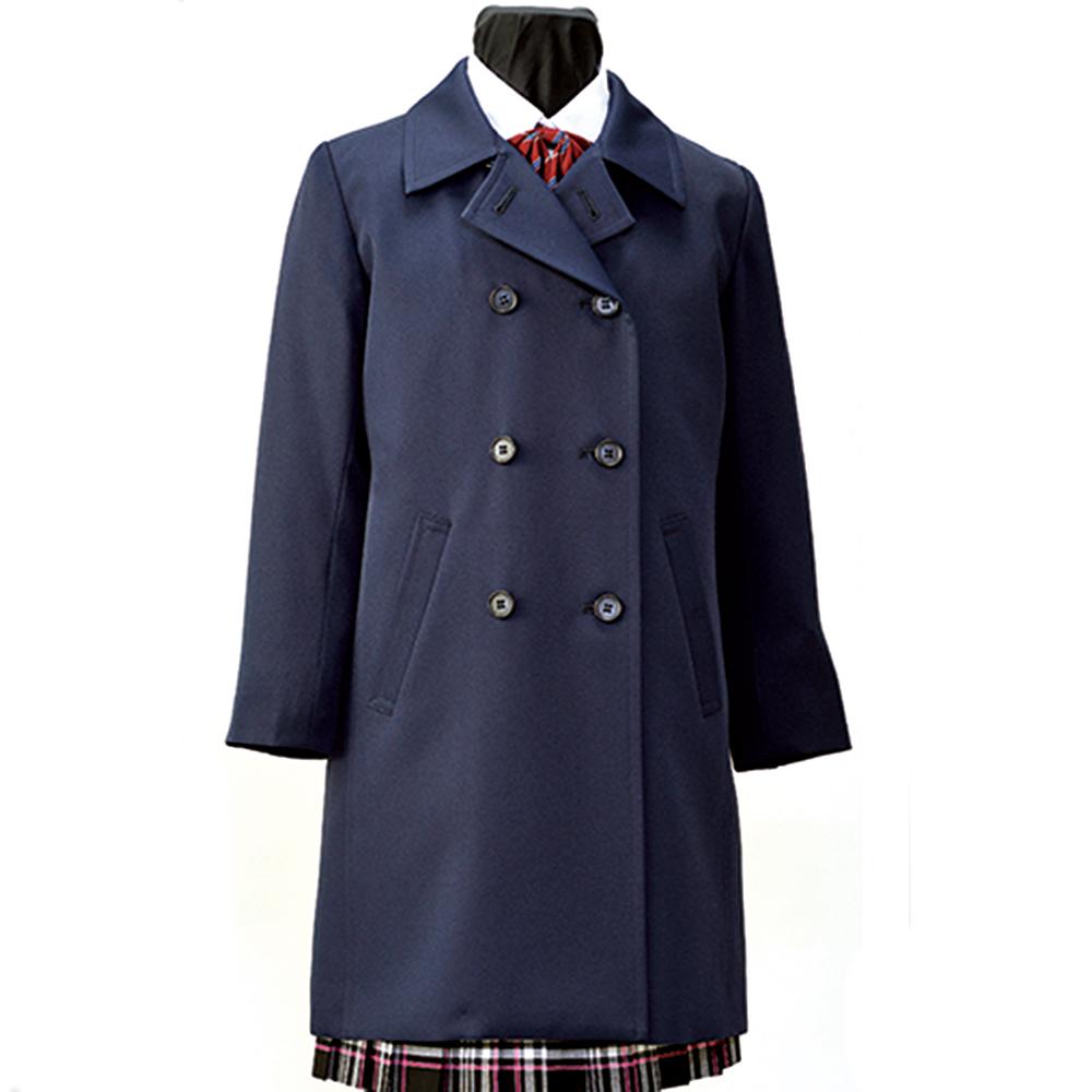 【取り寄せ商品】日本製 軽量 ジュニアライナー付きレインコート兼用冬用コート 濃紺無地