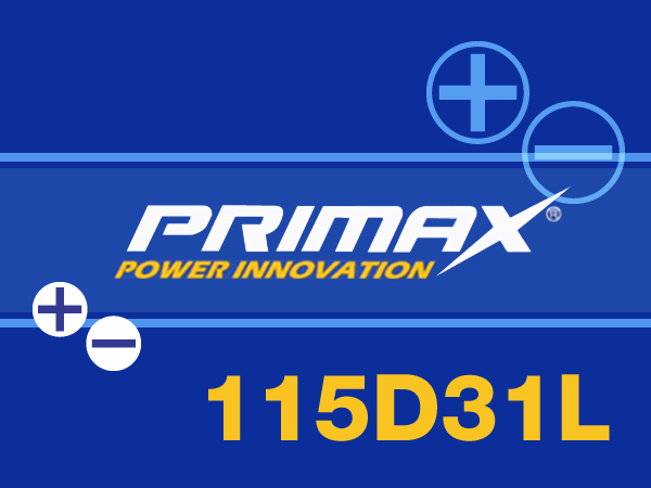 あす楽対応【あす楽対応_関東】専門誌・雑誌等で証明された高性能 PRIMAX(プリマックス)バッテリー レクサスLS460適合【115D31L】新品バッテリー95D31L/105D31L互換