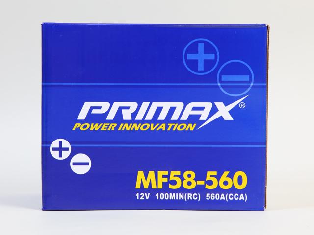 あす楽対応【あす楽対応_関東】専門誌・雑誌等で証明された高性能 PRIMAX(プリマックス)バッテリー (58-560)12V マスタング・チェロキー アメ車用