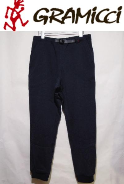 GRAMICCI Fleece Narrow Rib Pants【フリースナローリブパンツ】[メンズ]NAVY