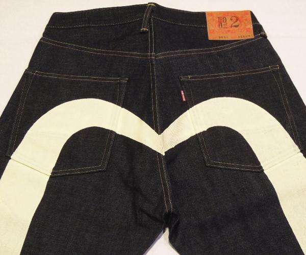 定番エビスジーンズ EVISU #2001 No.2 No.2デニム DAICOCK#2001レギュラーフィット ホワイト大黒 至高 WHITE 国際ブランド