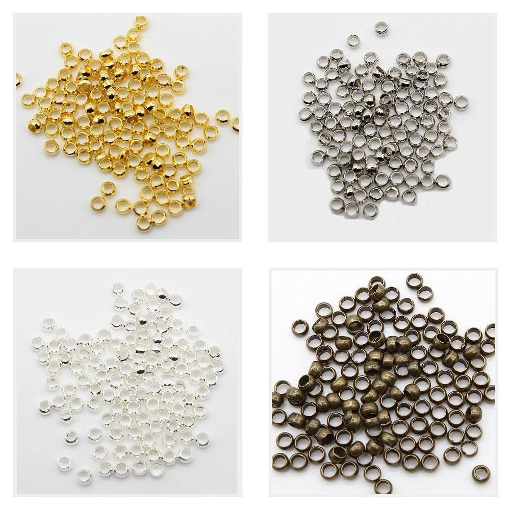 58a0e0fd207eff 100個つぶし玉かしめ玉かしめシルバー/ゴールド/アンティーク/ロジウム(HAPPYCRAFT