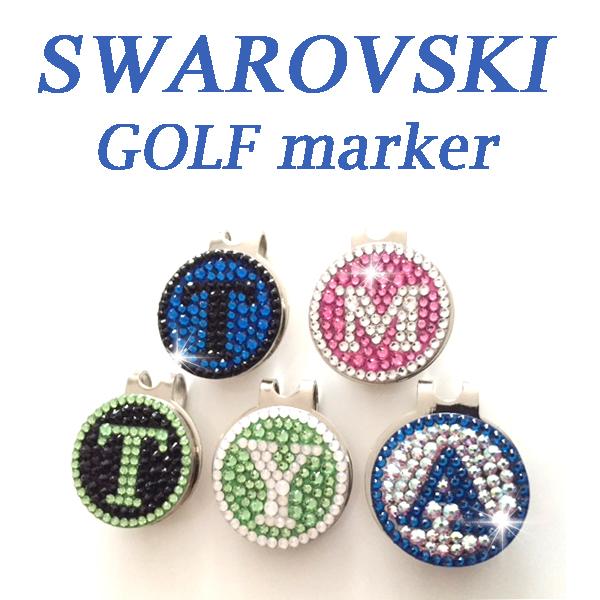 happydeko choose from golf marker clip with swarovski initials