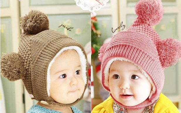 1260839b21d832 ♡For more product information♡ ♤ earpieces & pom poms & Chin band with ♪  back BOA's so warm and super cute knit hat!!