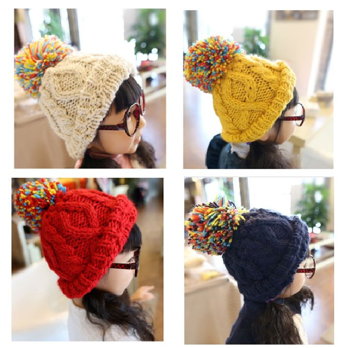happydreamshop  ☆ Winter accessories kids knit Cap ☆ child Hat ... 8ff90ee42ab
