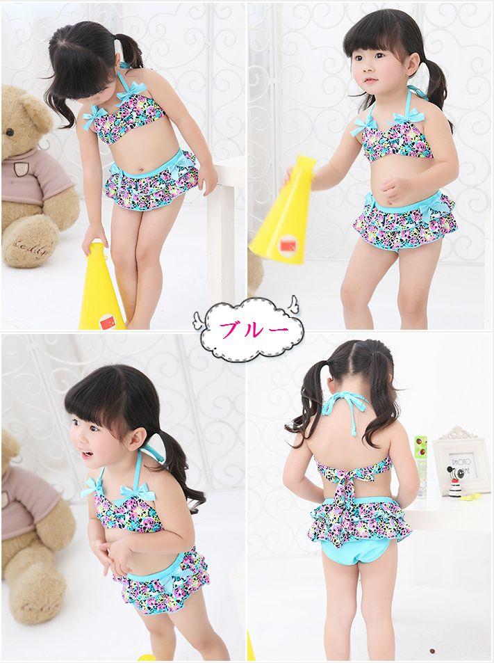 2e8dc20ab048c ... Swim Cap ☆ ♪ cute swimsuit 3-point set ☆ kids baby swimsuit children  swimsuit ...