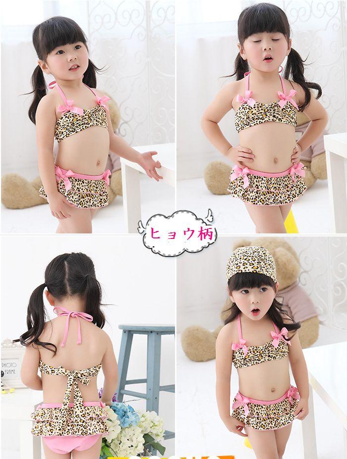 ae14c4412bbb2 ... Swim Cap ☆ ♪ cute swimsuit 3-point set ☆ kids baby swimsuit children  swimsuit