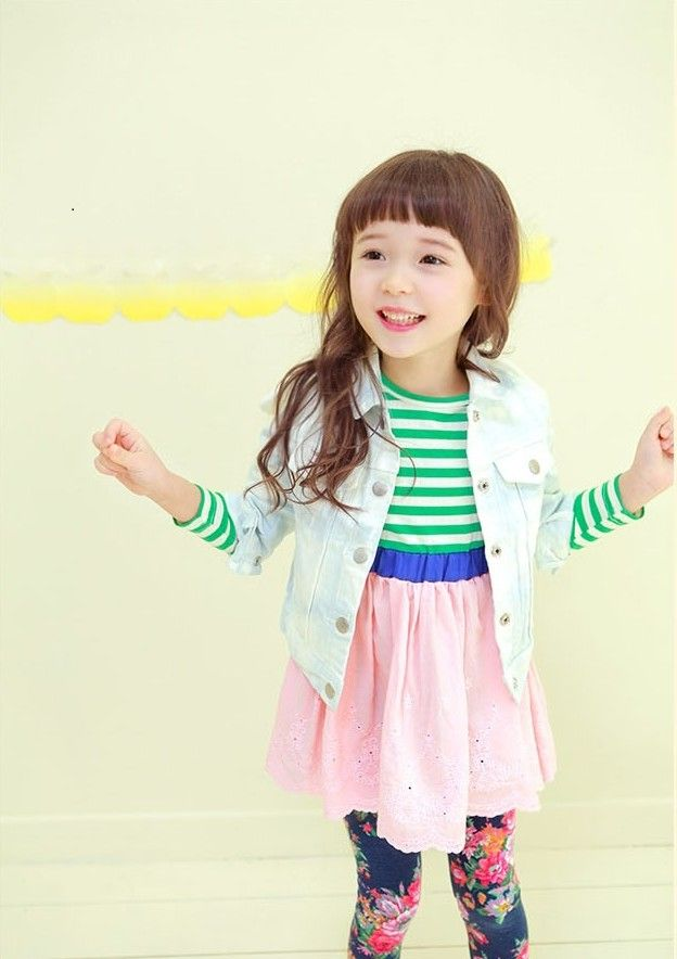 Happydreamshop Angel Wings With Cute Denim Jacket For Kids