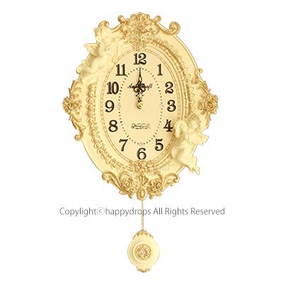 新作 大人気 ギフト 贈り物に最適 オーバルデザイン おすすめ特集 天使の振り子時計