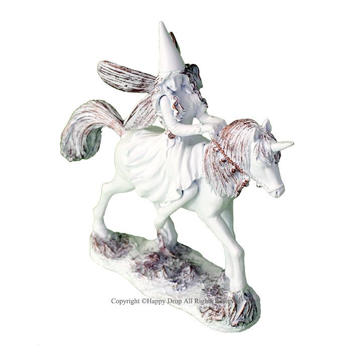 ギフト 贈り物に最適 妖精 フェアリー 小人 お姫さま プリンセス ユニコーン ゴールド 雑貨 ホワイト 白 フェアリープリンセス 数量限定 インテリア 舗 シリアルナンバー付き ご予約品