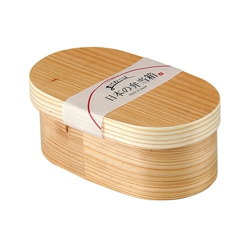 日本便当盒椭圆形木制便当盒 wappa 午餐自然厨房午餐盒弯曲 wappa 532P15May16