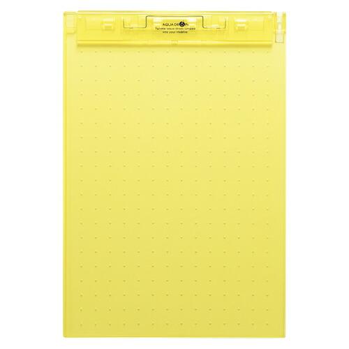 休日 ファイル ケース クリップボード AQUA DROPs 超薄型クリップボード まとめ 1枚 2020 黄色 20×セット A-5067-5 4903419816698 リヒトラブ