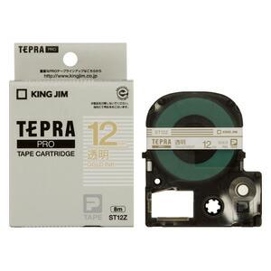 オフィス機器 テプラテープ 「テプラ」PRO SRシリーズ専用テープカートリッジ 【マラソンでポイント最大43.5倍】(まとめ) テプラテープ キングジム 「テプラ」PRO SRシリーズ専用テープカートリッジ ST12Z 4971660758838 ●12mm幅 1個【10×セット】