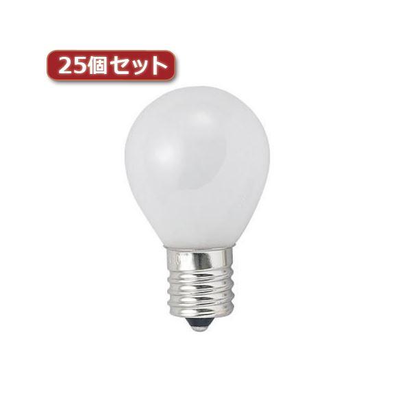 クリプトンミニランプ 40W形 口金E17 フロスト KS351736FX25 フロスト25個セット YAZAWA 25%OFF 市販