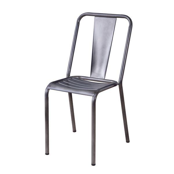 お店やセミナー等も!カフェチェア ダイニングチェア 食卓椅子 【マラソンでポイント最大43.5倍】スチールチェア/スタッキングチェア 【シルバー】 座面高44cm スチールフレーム 〔ディスプレイ用品 什器 インテリア家具〕