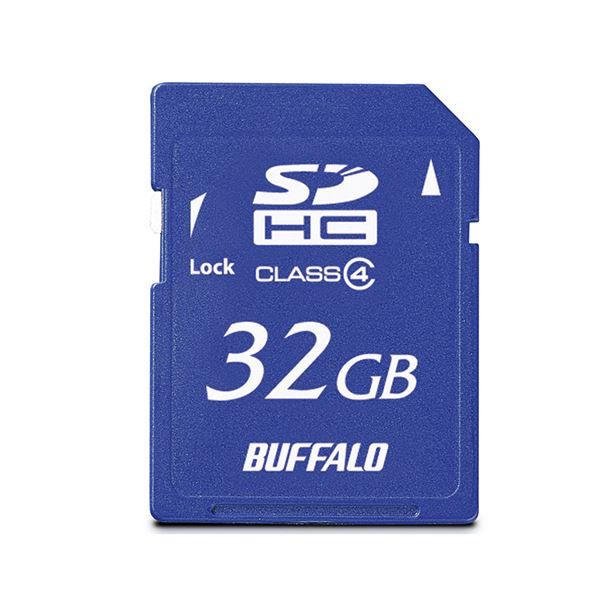 大切な思い出をたくさん保存できる大容量 バッファロー SDHCカード RSDC-S32GC4B 保証 32GBClass4 1枚 SALENEW大人気