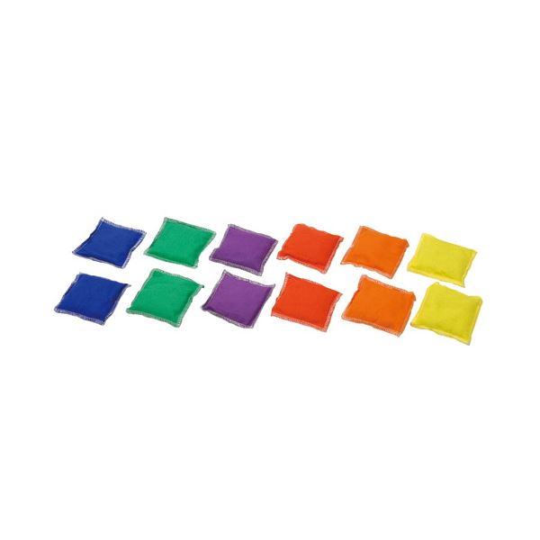 まとめ ビーンズバッグセット 12個1組 赤 大放出セール 青 緑 B5964 ×2セット オレンジ 定価の67%OFF 各2個 黄 紫