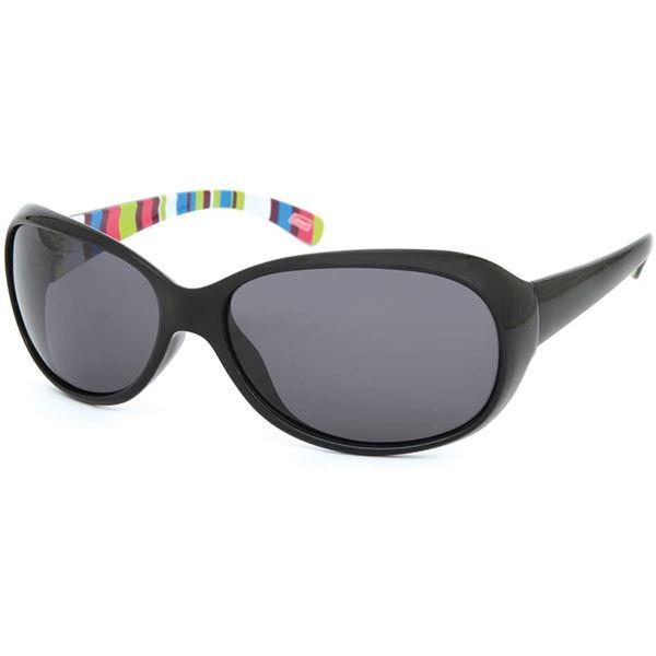 Coleman コールマン Lady's 偏光サングラス CLA01-1 セール特別価格 ブラック レンズ:スモーク ストライプ 予約販売 フレーム:ブラック