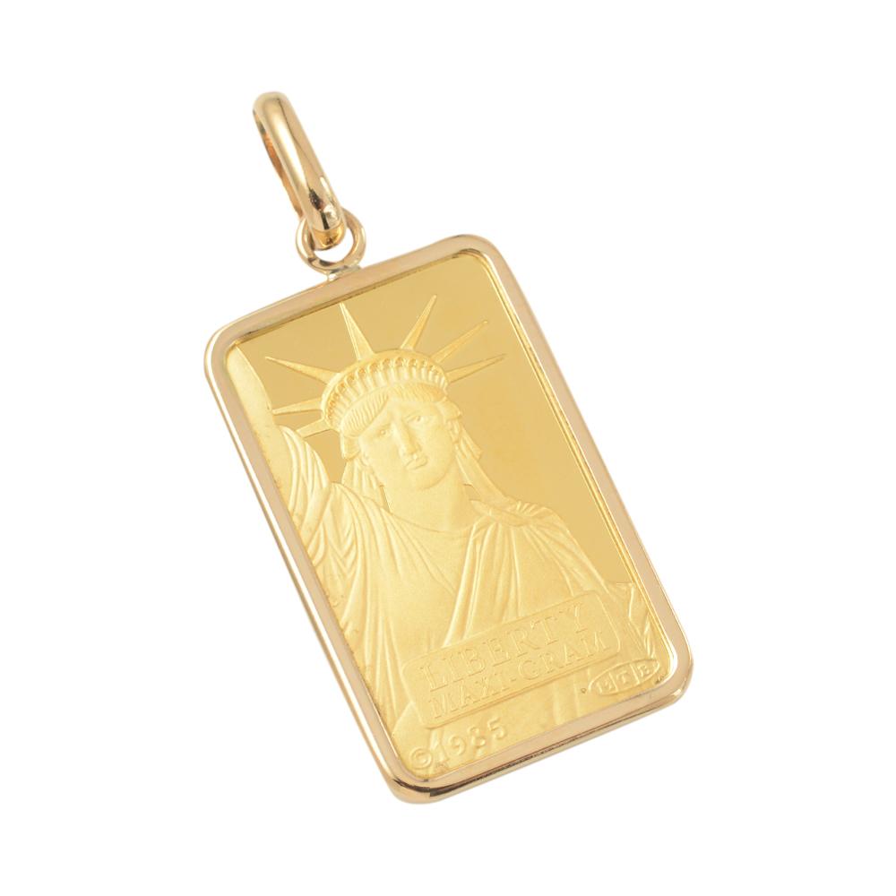 純金 K24 インゴット 5g ペンダントトップ リバティ 自由の女神 シンプル 伏込み枠 新品 送料無料 メンズ レディース プレゼント ギフト 贈り物 誕生日 人気 おしゃれ かわいい かっこいい アクセサリー 首飾り ネックレス ヘッド チャーム