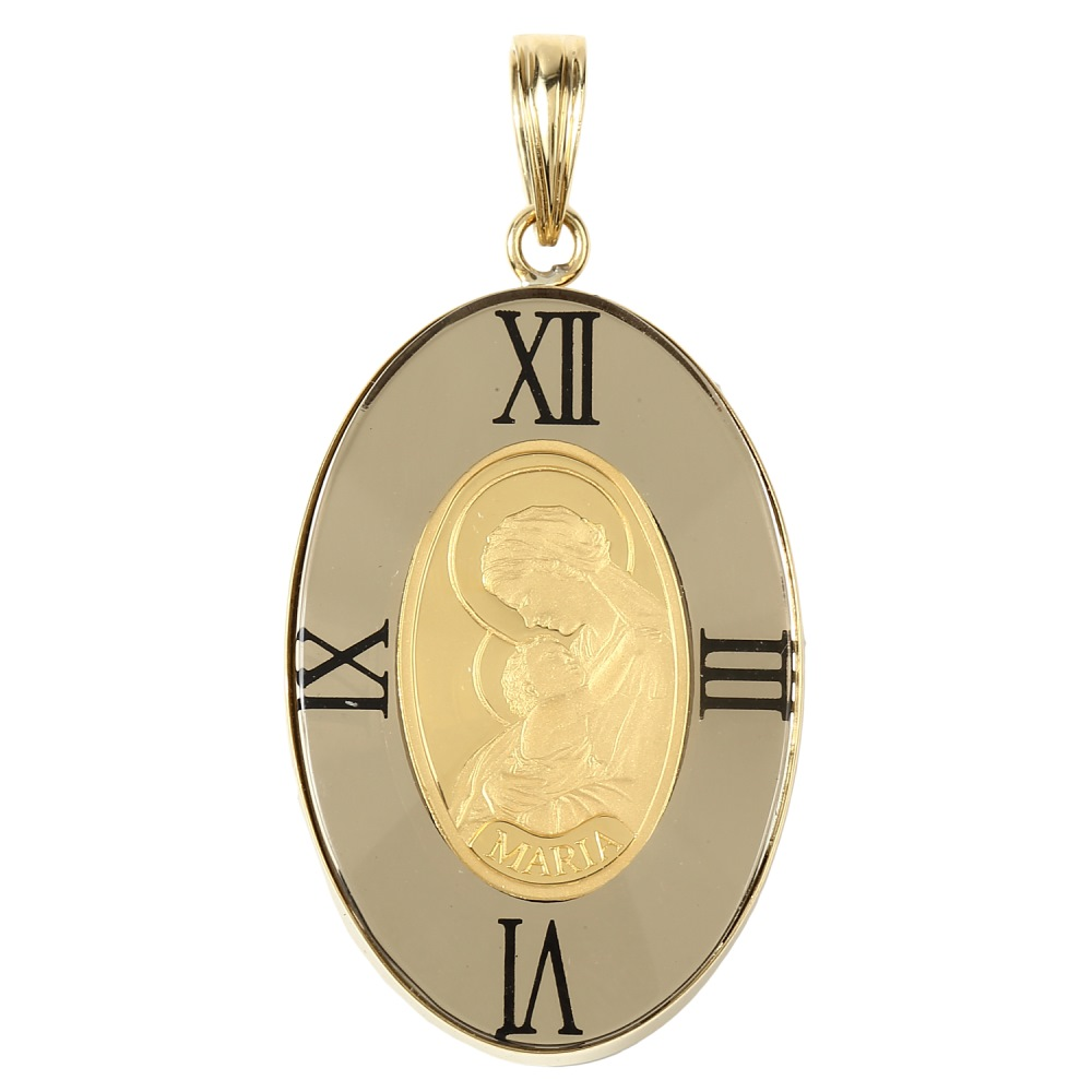 純金 K24 インゴット 1g マリア コイン ペンダントトップ アラベスク 時計文字 ゴールド デザイン枠 オーバル 新品 送料無料 メンズ レディース プレゼント ギフト 贈り物 誕生日 人気 おしゃれ かわいい かっこいい アクセサリー 首飾り ネックレス ヘッド チャーム