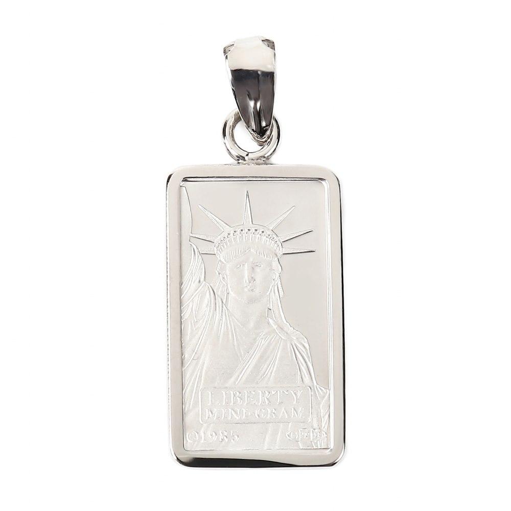 純プラチナ リバティ 1g インゴット メンズ レディース ペンダントトップ クレジット スイス 自由の女神 シンプル枠