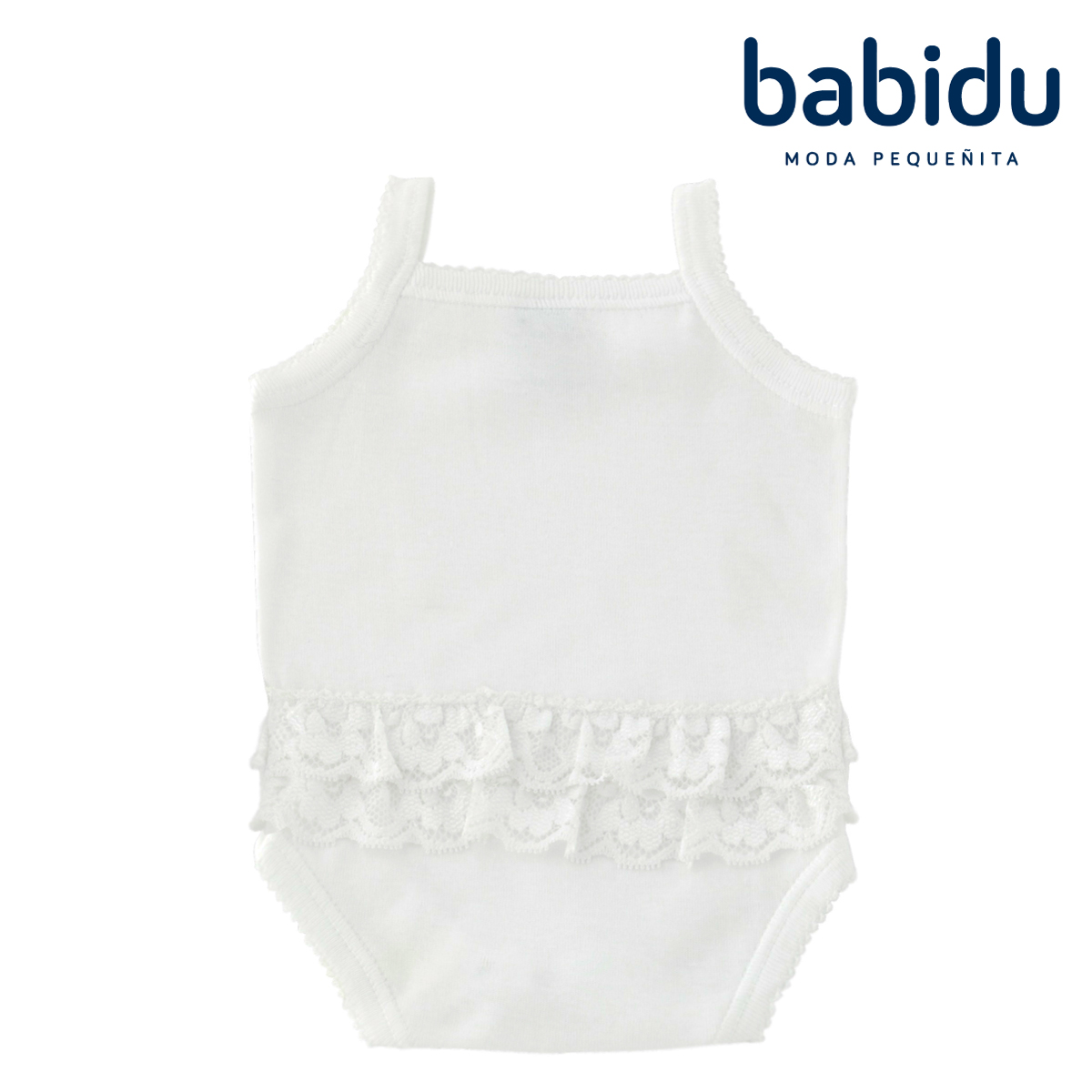 80613b508feea 人気のおしりフリルシリーズです☆Babidu バビドゥ ベビー服 おしりフリル キャミソール ボディ 綿100%