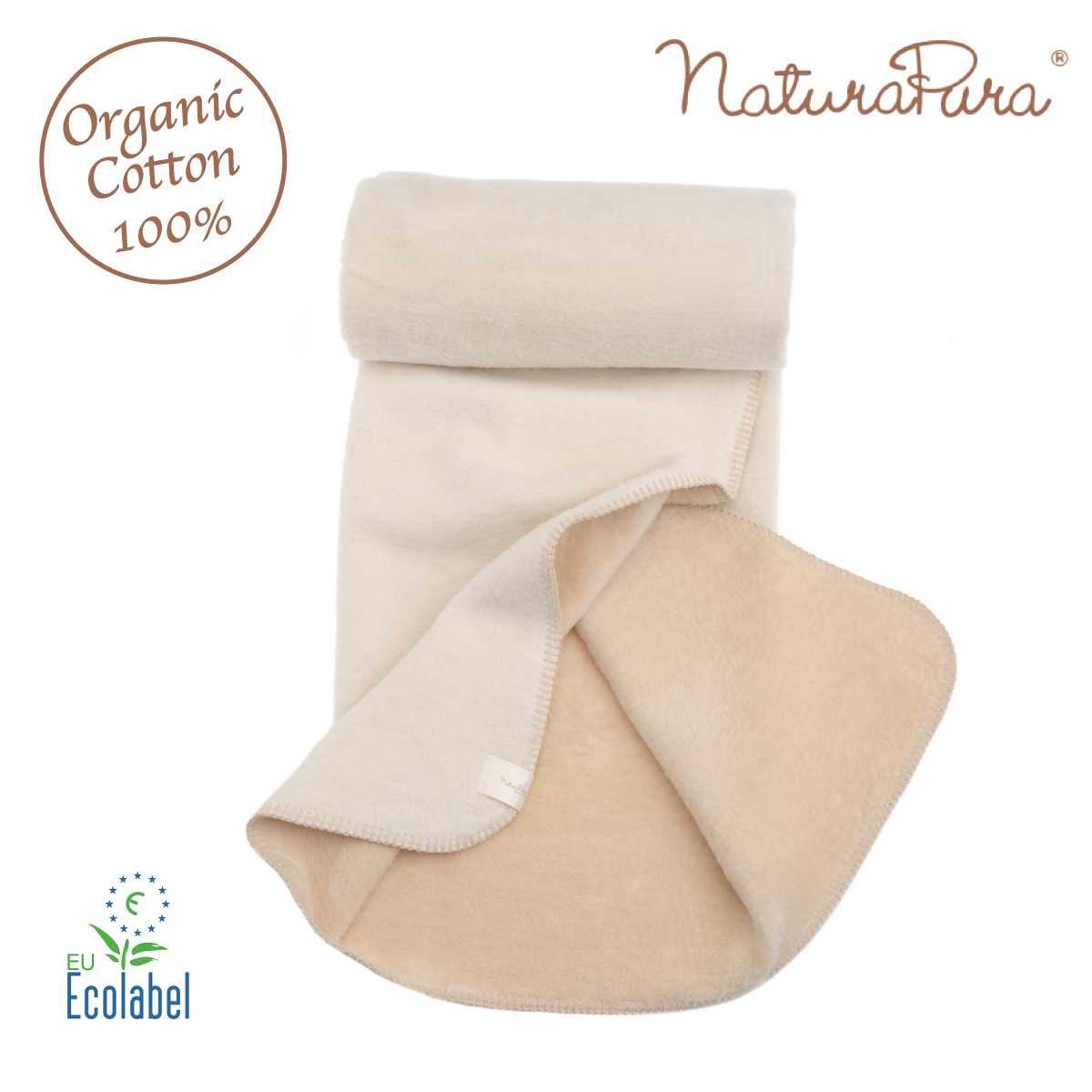 naturapura ナチュラプラ おくるみ 70×50cm オーガニックコットン100% ブランケット 毛布 アフガン ベビー