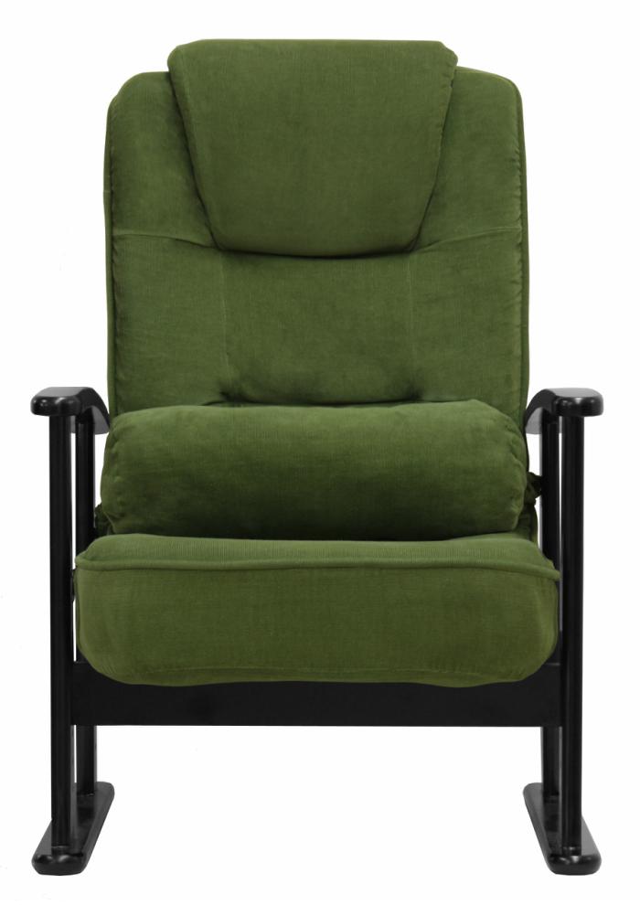 【送料無料!】折りたたみ式木製肘付リクライニング高座椅子
