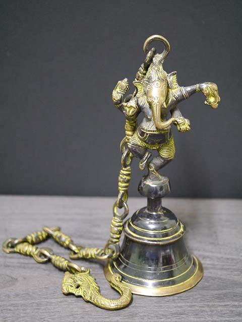 インドの神様ガネーシャの置物 真鍮製の大きなガネーシャです!(No.31)もちろん重量もヘビー級!/エスニック/アジアン雑貨