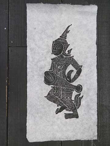 タイで有名な寺院のお守りや御札です タイ-ワット ギフト プレゼント おしゃれ ご褒美 ポーの石刷り その4 ワットポーの石の壁画に紙を当ててその上から墨で擦った絵です ポスト投函配送選択可能です エスニック 3枚毎に送料1通分が掛かります アジアン雑貨