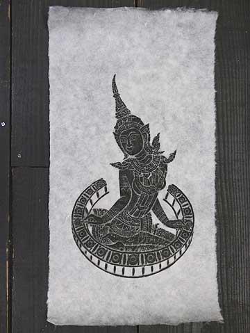 タイで有名な寺院のお守りや御札です タイ-ワット ポーの石刷り その7 ワットポーの石の壁画に紙を当ててその上から墨で擦った絵です ポスト投函配送選択可能です エスニック アジアン雑貨 3枚毎に送料1通分が掛かります 日本限定 人気の製品
