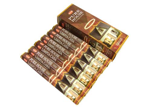 お香 ★チョコレートとココナッツもしくはバニラをブレンドしたようなクリーミーな甘い香りのお香★HEM  お香 ピュアハウス香 スティック /HEM PURE HOUSE/インセンス/インド香/アジアン雑貨(6箱セット!ポスト投函配送選択で送料無料/他商品同梱不可です!)