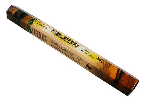 甘く濃厚な香りのお香 国産品 お香 フランキンセンス ミルラ香 スティック TULASI 期間限定今なら送料無料 FRANKINCENSEMYRRH インセンス 6箱毎に送料1通分が掛かります インド香 ポスト投函配送選択可能です アジアン雑貨